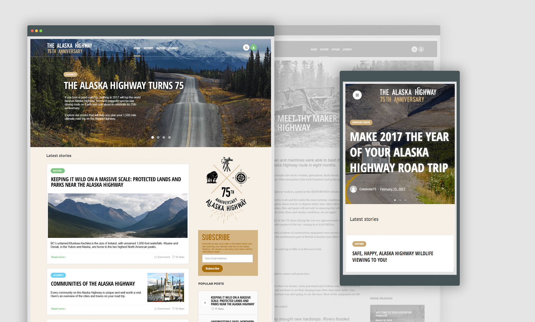 Alaska Highway Web Design and Growth Design