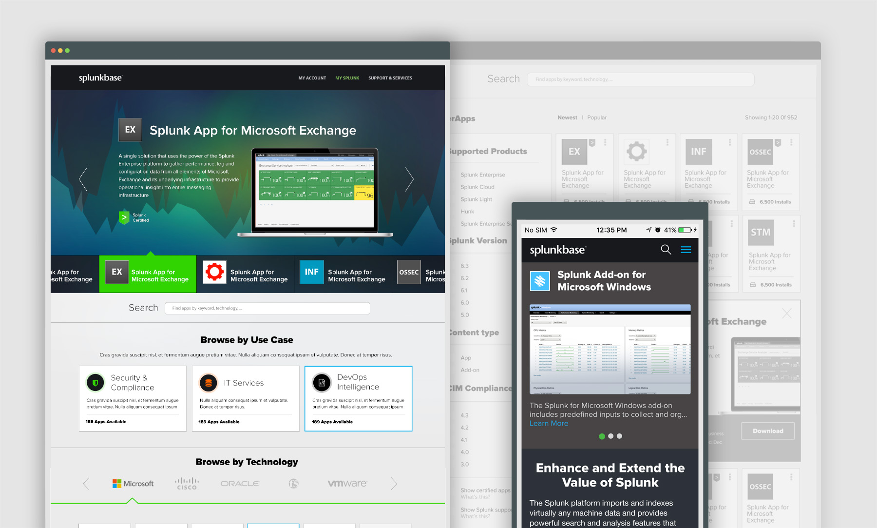 SplunkBase UX-UI Design